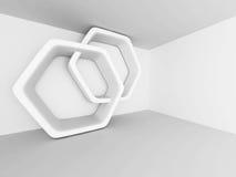 抽象结构设计 内部现代空间 库存照片