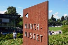 爱德华・蒙克博物馆在奥斯陆 免版税图库摄影