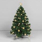 圣诞树在屋子里 库存图片