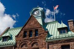 历史的邮局大厦在阿尔蒙特 免版税图库摄影