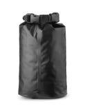 Черная пластичная водоустойчивая сухая сумка Стоковое Изображение RF
