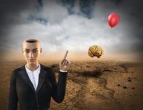 Сюрреалистическая мечта, маркетинг объема продаж торгово-промышленных предприятий Стоковая Фотография RF