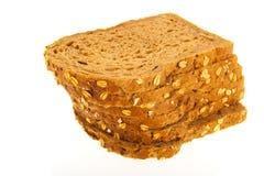 全麦的面包片 免版税图库摄影