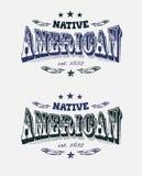 Ярлык компании коренного американца Стоковая Фотография