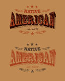 Ярлык компании коренного американца Стоковое Изображение