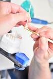 关闭牙清洁保健员 免版税库存图片