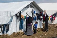 难民营在希腊 免版税库存图片