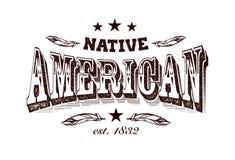 Ярлык компании коренного американца Стоковая Фотография RF