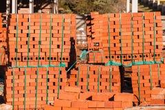 Οικοδομικά υλικά τούβλων Στοκ Εικόνες