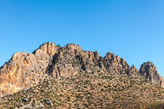 多山风景在塞浦路斯 免版税库存图片