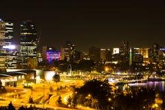 Сцена ночи Перта Стоковая Фотография RF