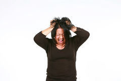 疯狂的西班牙妇女 免版税库存照片