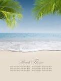 横幅海滩设计要素例证向量 免版税库存照片