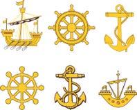 纹章学海军陆战队员集合 库存照片