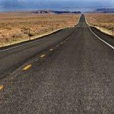 沙漠路 免版税库存照片