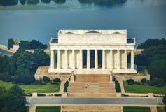 亚伯拉罕・林肯纪念品在华盛顿特区, 免版税图库摄影