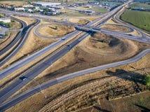 Вид с воздуха пересечения шоссе Стоковая Фотография