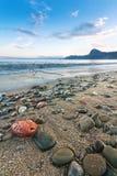 Παραλία βραδιού Στοκ Εικόνες