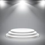 圆的白色指挥台 免版税库存照片