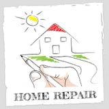 家庭修理代表补丁公寓和家 库存图片