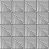 Безшовная геометрическая картина вектора Стоковые Изображения