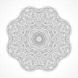мандала Этнический декоративный индеец элементов, ислам, арабские мотивы Стоковое Фото