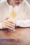 饮用的酒 免版税库存图片