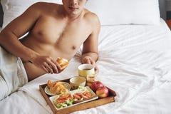 早餐吃 库存照片