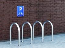 空的自行车停车处 免版税库存照片