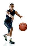 Изолированный человек баскетболиста Стоковые Фотографии RF