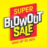 超级爆胎销售横幅 免版税库存图片