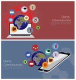 Ψηφιακή έννοια επικοινωνίας Στοκ Εικόνες