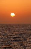 在日落的看法 图库摄影