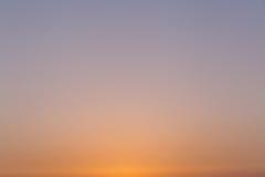 清楚的日落天空 免版税库存照片