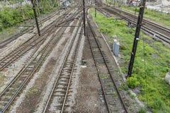 στενές διαδρομές σιδηροδρόμου γραμμών ημέρας δύο επάνω Στοκ φωτογραφίες με δικαίωμα ελεύθερης χρήσης