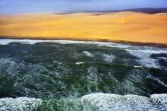Побережье в Намибии Стоковая Фотография RF