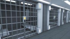Футуристическая внутренняя тюрьма Стоковое Фото