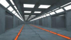 Футуристическая внутренняя тюрьма Стоковое фото RF