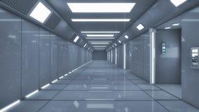 Футуристический космический корабль чужеземца залы Стоковая Фотография