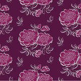 红色牡丹花卉剪影 春天花传染媒介 库存照片