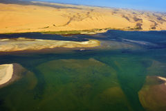 海岸在纳米比亚 库存图片