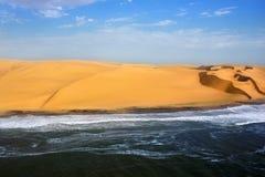 海岸在纳米比亚 免版税库存图片