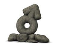 Каменный мужской символ на белой предпосылке Стоковые Фотографии RF