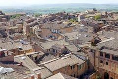 Вид с воздуха Сиены, Тосканы, Италии Стоковые Фотографии RF