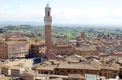 Вид с воздуха Сиены, Тосканы, Италии Стоковые Изображения