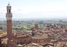 Вид с воздуха Сиены, Тосканы, Италии Стоковая Фотография RF