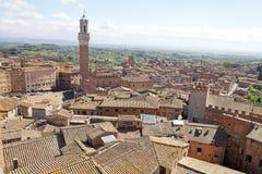 Вид с воздуха Сиены, Тосканы, Италии Стоковые Изображения RF