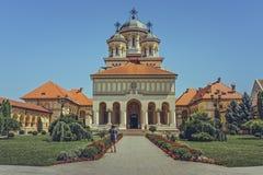 加冕大教堂,阿尔巴尤利亚,罗马尼亚 库存照片