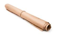 Крен используемой коричневой упаковочной бумаги Стоковое Фото