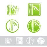 Σύνολο σχεδίου λογότυπων μπαμπού Στοκ Εικόνες